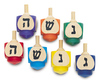 colorful wood dreidel